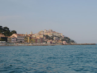 The shoreline of Porto Maurizio in Liguria, where Leonardo was born Paolo Casanova in 1676