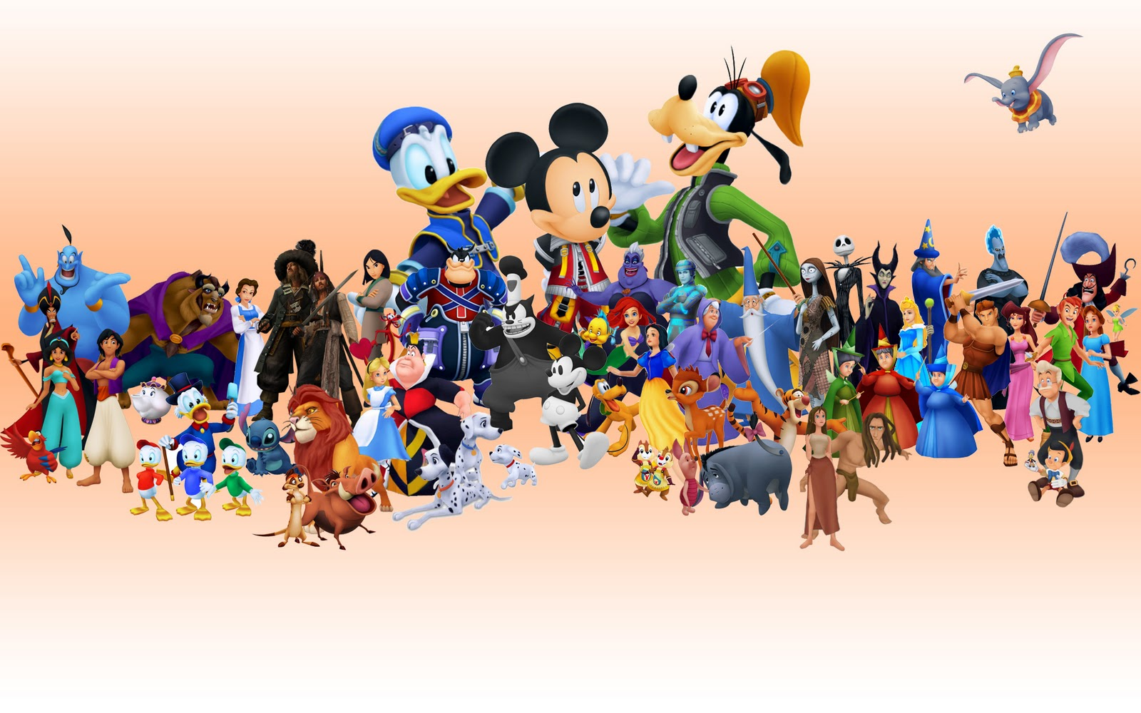Black And White Disney Characters