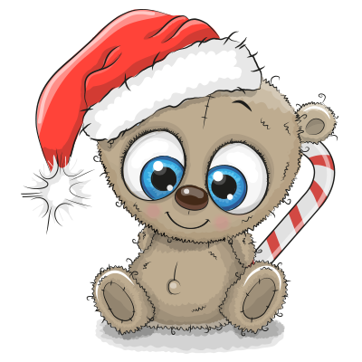 Christmas-Time Teddy Bear