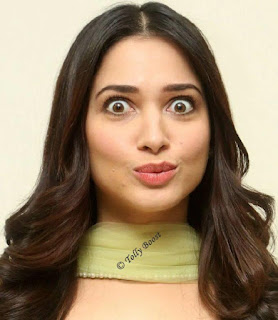Telugu Actress Tamannaah Beautiful Long Hair Face Closeup (7)