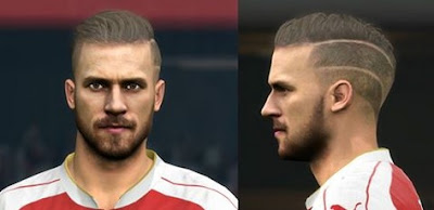 PES 2016 Aaron Ramsey face by Sameh Momen