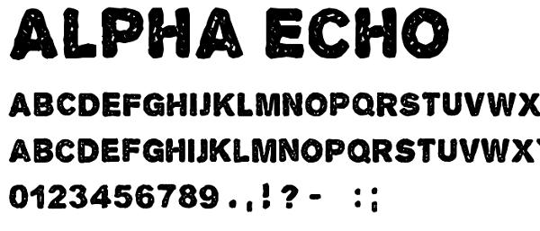 Download Font Edisi Februari 2017 - Alpha Echo Font