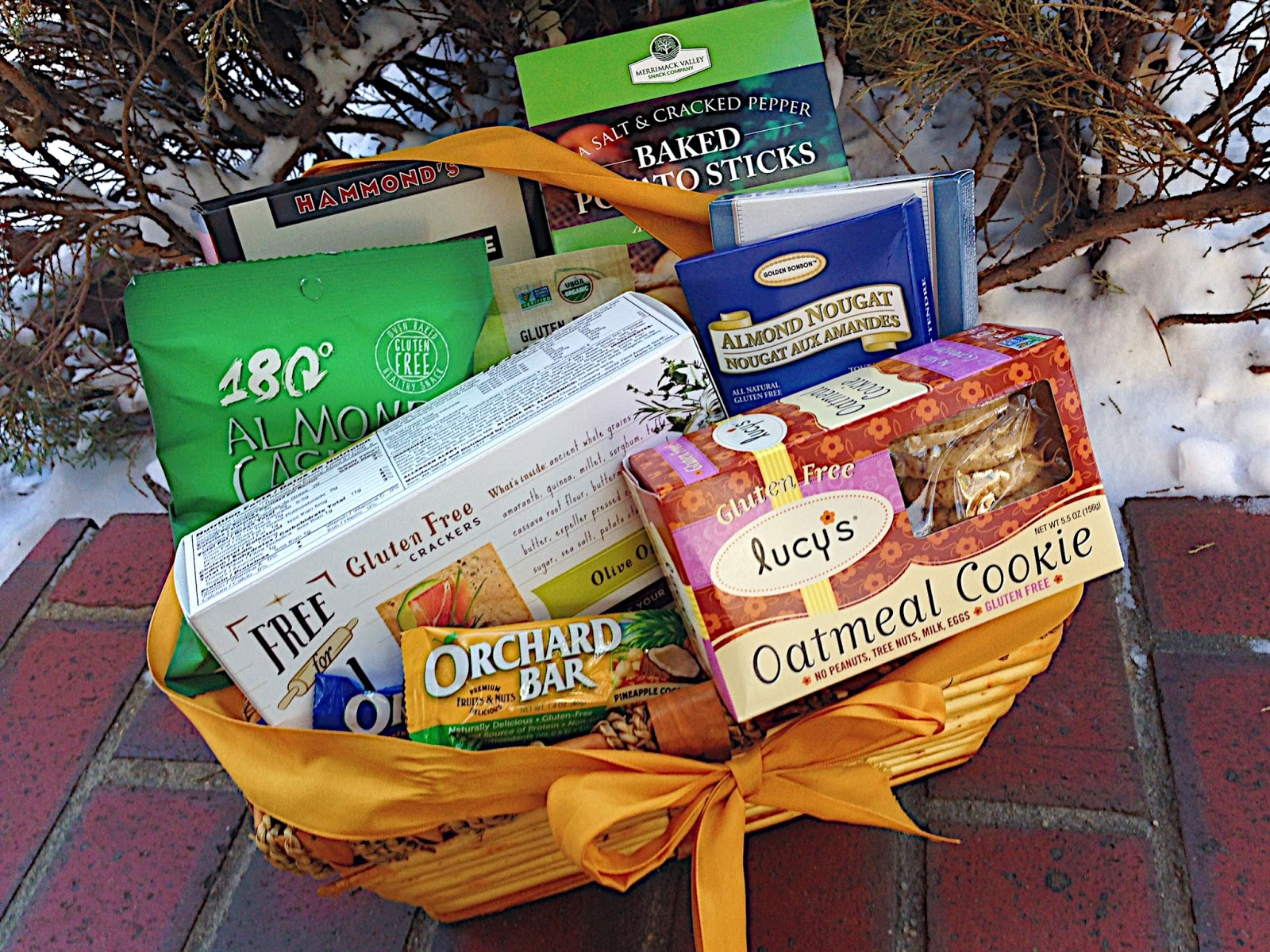 A college celiacs top gluten free snacks for the new year casey the college celiac a gift basket of a gluten free negle Gallery