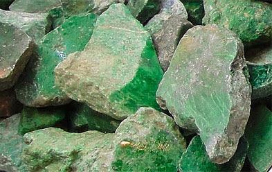 rough green jadeite jade