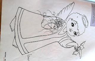 Riscos para pintura em tecido-Anjinho