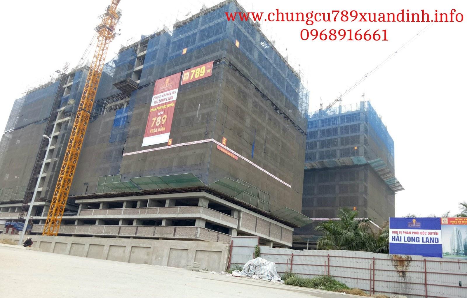Hình ảnh thực tế dự án Chung cư 789 Xuân đỉnh | Ngày 1.1.2017