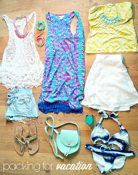 la petite fashionista packing for vacation
