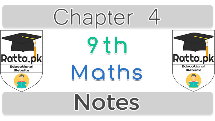 Chapter 4 Algebraic Expressions and Algebraic Formulas 9th Maths