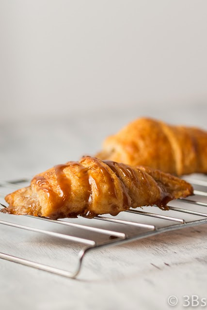 Banana Caramel Crescents