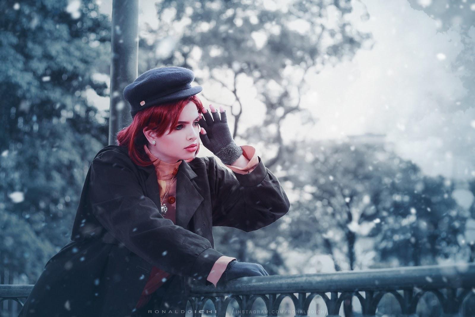 fotografia cosplay - ensaio com a cosplayer Melânya Fiaux de Princesa Anastasia do filme norte americano de 1997 animação musical