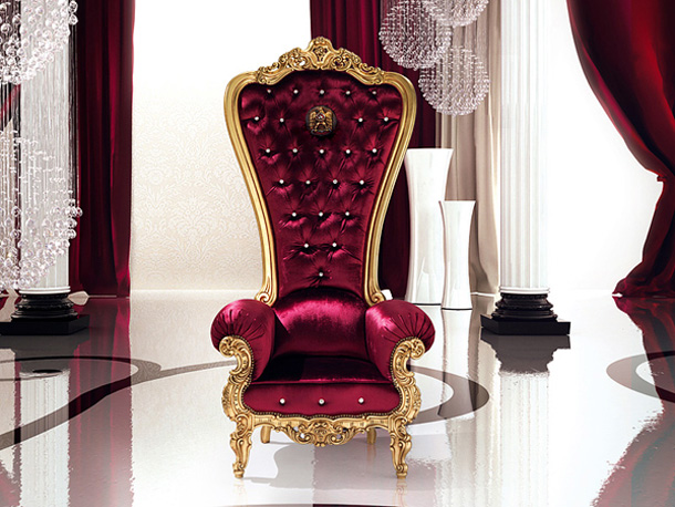 Luxury Seats and Extraordinary - Armchair Throne as King ...