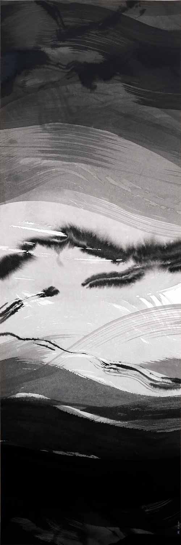 Encre et lavis sur papier Arches, 40 x 120 cm, 7 oct. 17