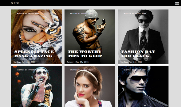 Sleek Responsive Blogger Template