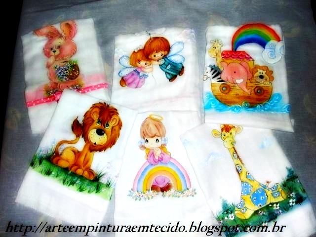 fraldas pintadas infantil