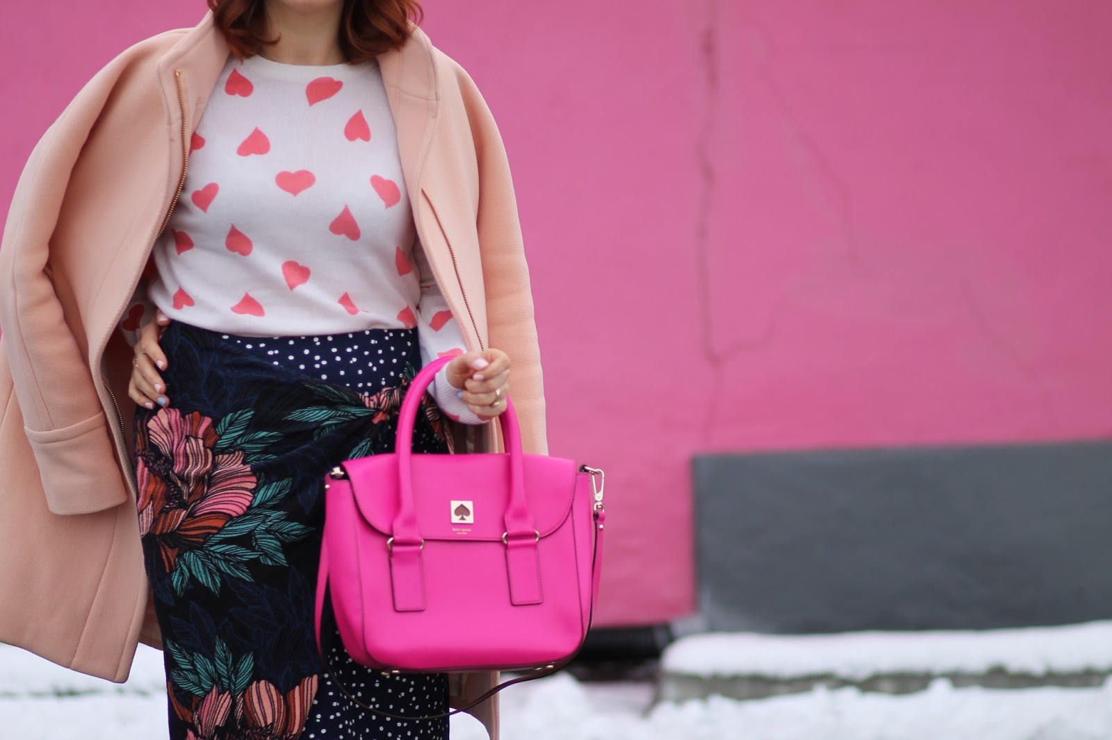 kate spade purse, outfit ideas, valentines day, heart sweater