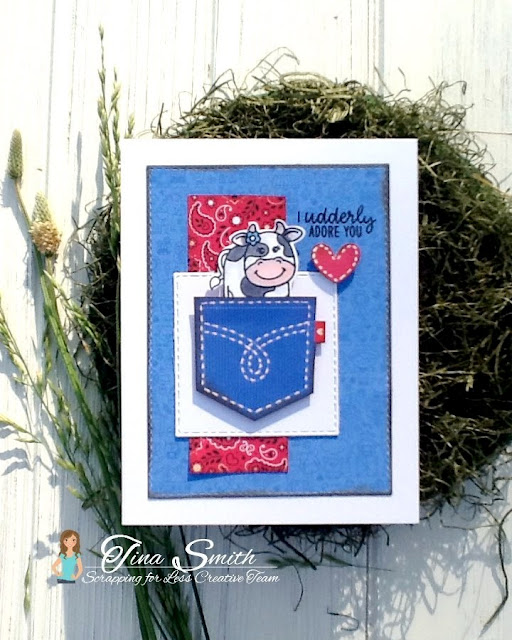 Sunny Studio Stamps: Barnyard Buddies Customer Card Share by Tina Smith