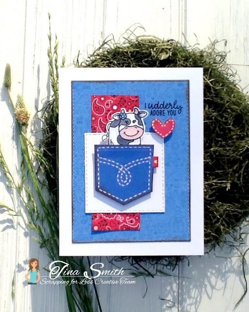Sunny Studio Stamps: Barnyard Buddies Customer Card Share by Tina Smith