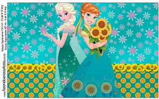 Etiquetas de Frozen Fever  para imprimir gratis.