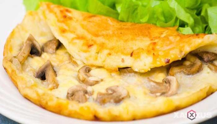Resep omelette jamur kancing