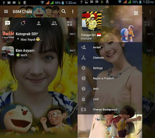 BBM Doraemon with Change Background