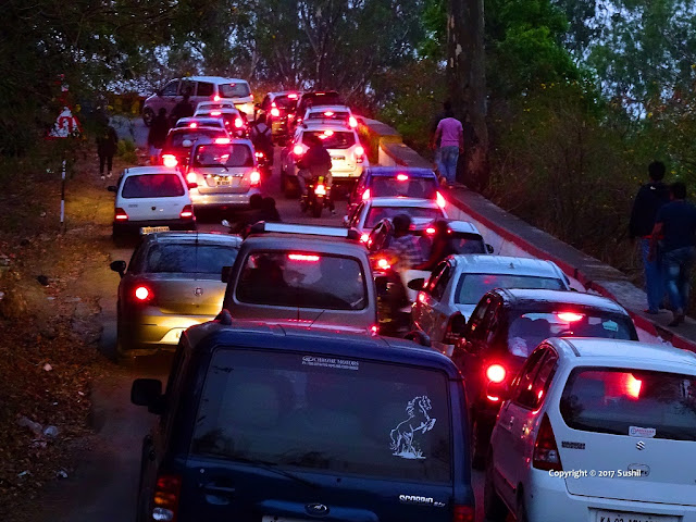 Early Morning Traffic on the Way to Nandi Hills, Bangalore