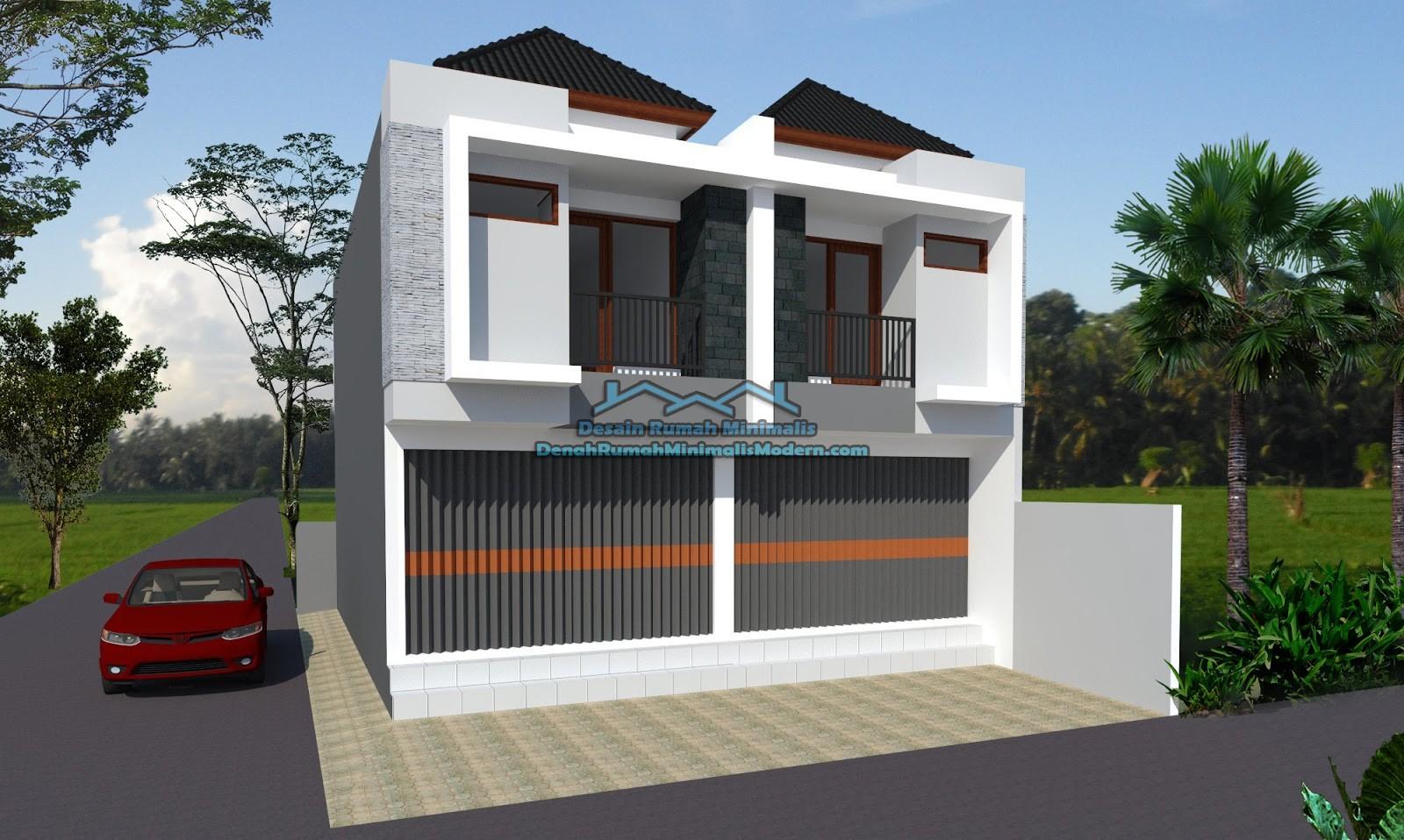 100 Denah Rumah Minimalis Plus Toko Gambar Desain Rumah Minimalis