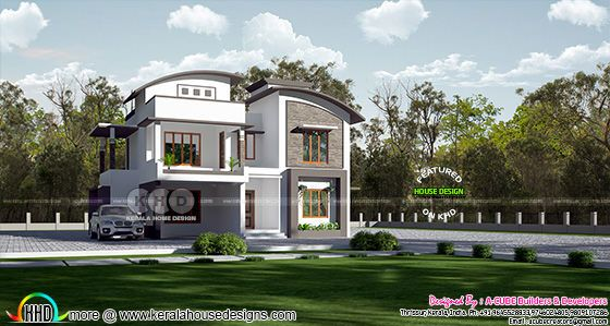 4 BHK modern contemporary style 2760 sq-ft home