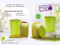 Green Canister Set Promo Tupperware Januari 2017