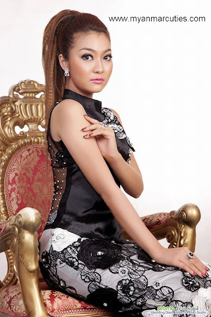 Khine Thazin is well-matched with black outfit
