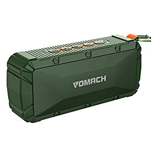 Bluetooth Speakers, Wotmic Portable Outdoor Wireless Speakers HiFi Sound Subwoofer IPX6 Waterproof Shockproof Speakers Green by Wotmic