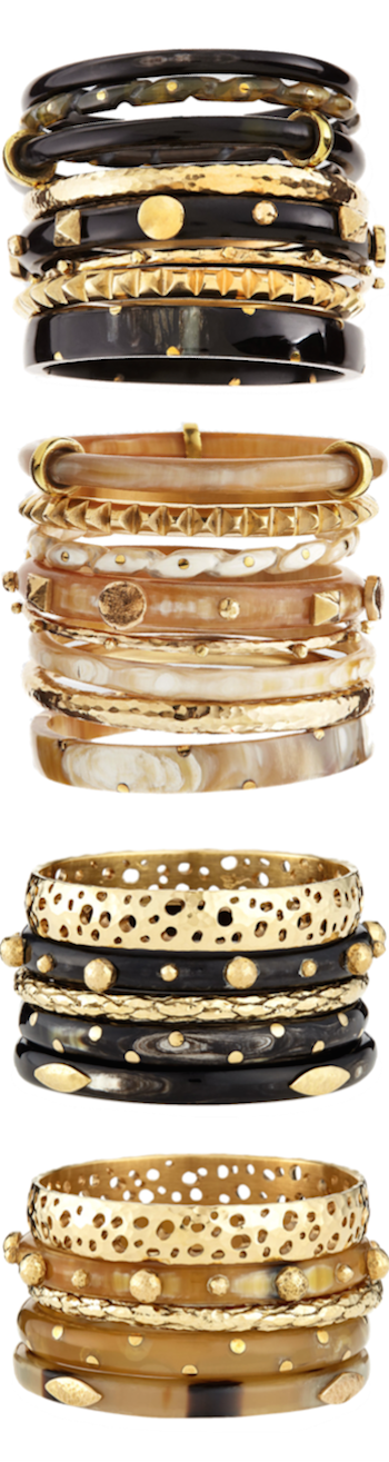 ASHLEY PITTMAN ASSORTED STACKED BANGLES
