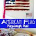 Free American Flag Playdough Mat
