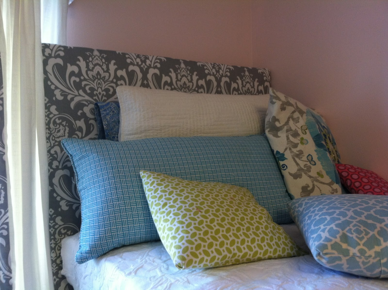 dorm chair covers etsy ikea and ottoman the old post road easy room headboard tutorial i recently made headboards for my daughter s bed in her sorority house this is a super project