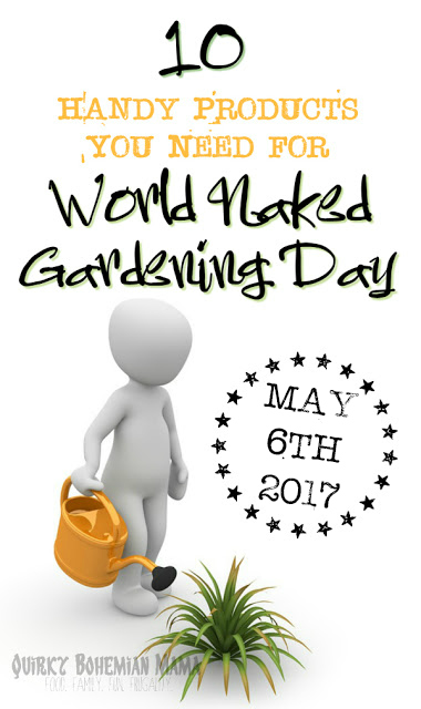 World Naked Gardening Day. Yes, it's a real thing. Sounds like something I would have made up, but sadly, I can't take credit for this one. 10 Handy Products You Need for World Naked Gardening Day {May 6, 2017}