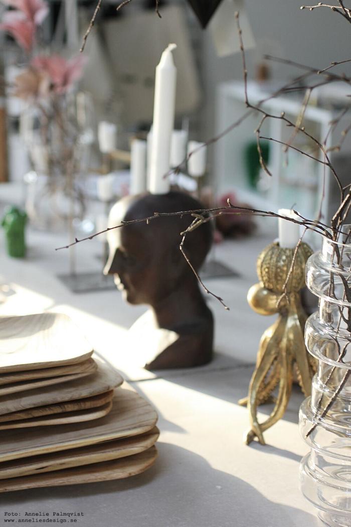 annelies design, inredningsbutik, varberg, ansikte ljusstake, detaljer, inredningsdetaljer, presentbutik,