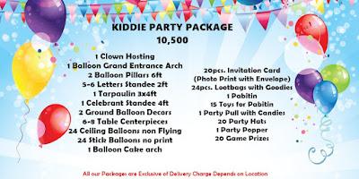 Affordable Kiddie Party Package in cebu city