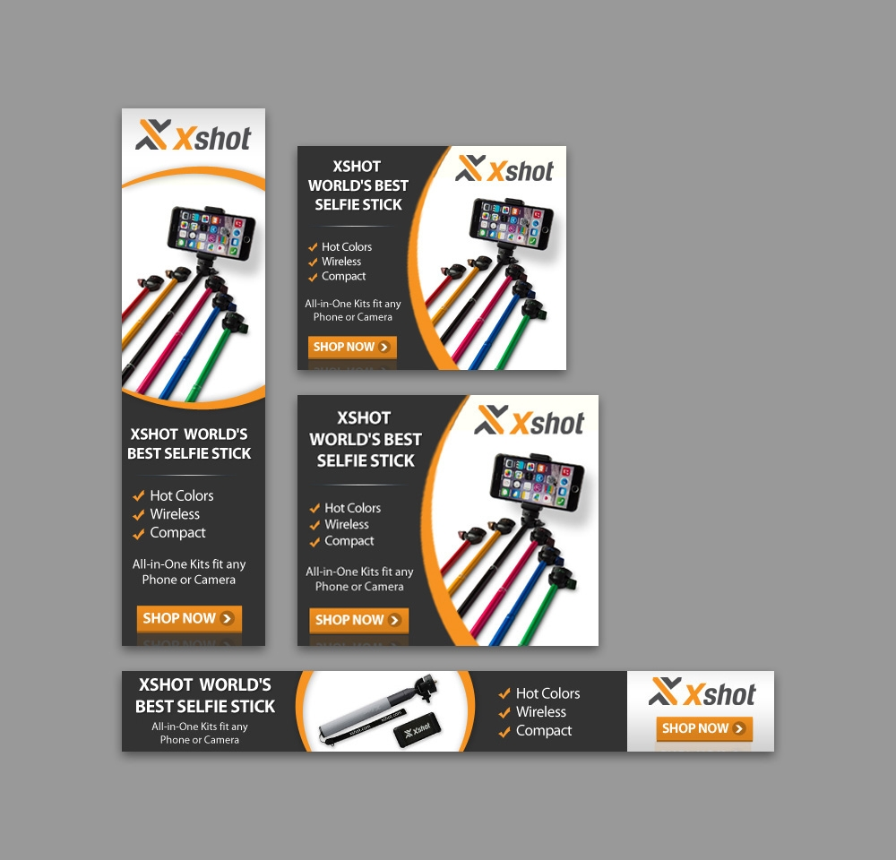 Xshot selfie stick banner gexton graphics our mission is to provide full satisfaction and help from logos and presentations to print design and digital publications we make sure to help companies stopboris Choice Image