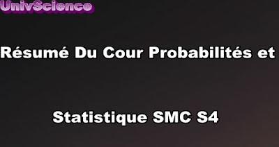 Résumé Du Cour Probabilités et Statistique SMC S4 PDF