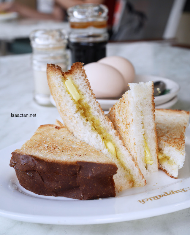 Pappa Lite Meal @ PappaRich Malaysia - Hainan Toast with Butter + Kaya with Half Boiled Egg (2 Eggs)