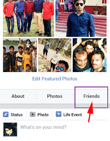 Hide Facebook Friends List android, samsung, iphone