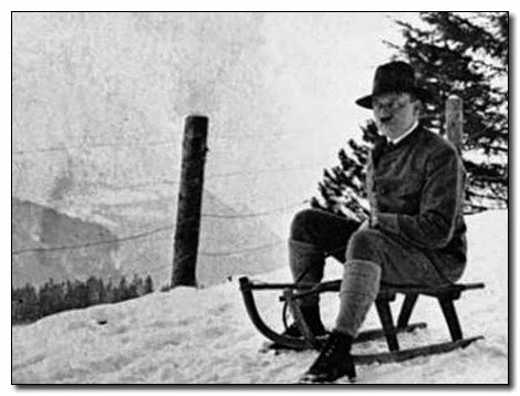 Ultimate Collection Of Rare Historical Photos. A Big Piece Of History (200 Pictures) - Adolf Hitler on sledge
