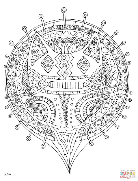 Forest Cat With Tribal Pattern