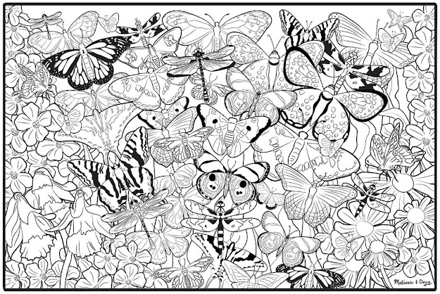 Free Adult Printable Butterfly Coloring
