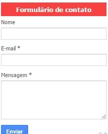 caixa de contato google para blogspot