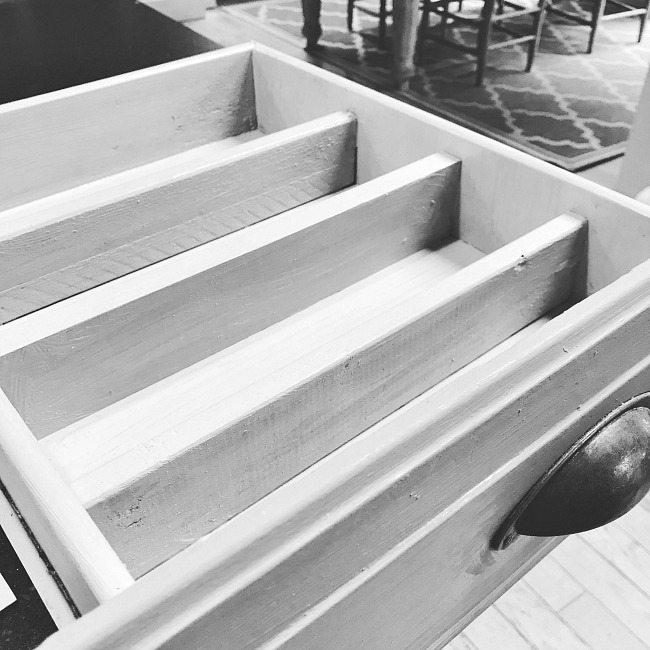 Sectioned silverware drawer DIY