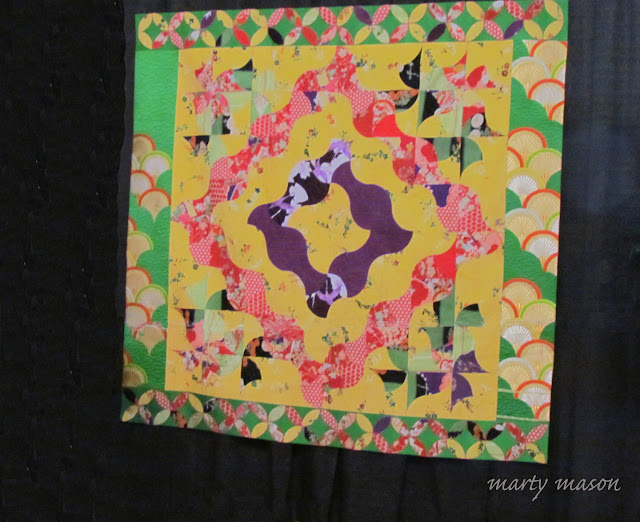Quilt by Junko Sugahara hanging in Houston Quilt Festival 2016
