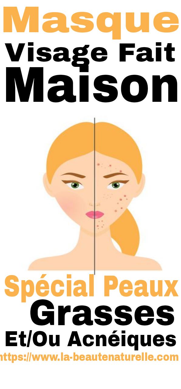 Masque visage fait maison spécial peaux grasses et/ou acnéiques