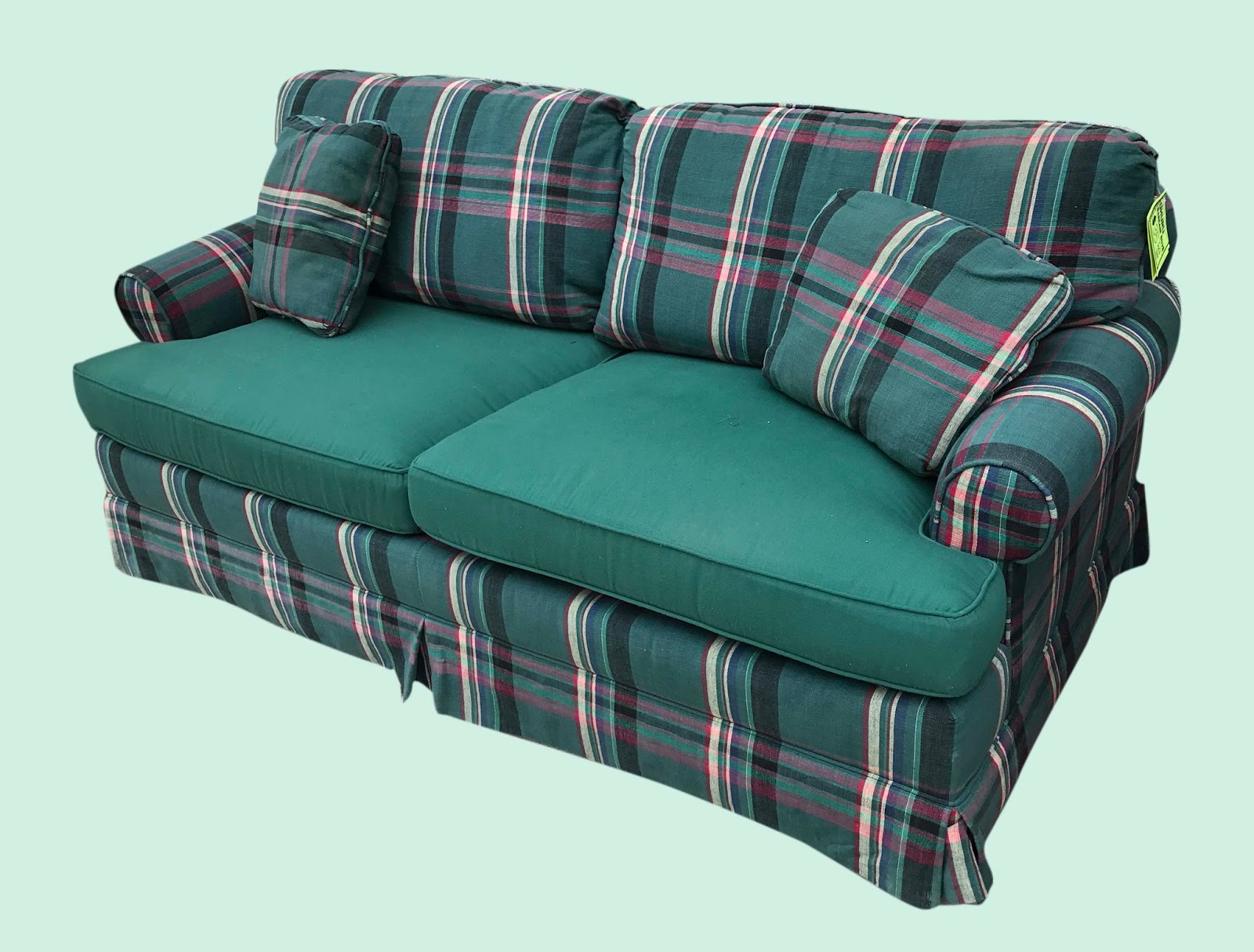 Uhuru Furniture Collectibles Plaid Sofa 35 Sold
