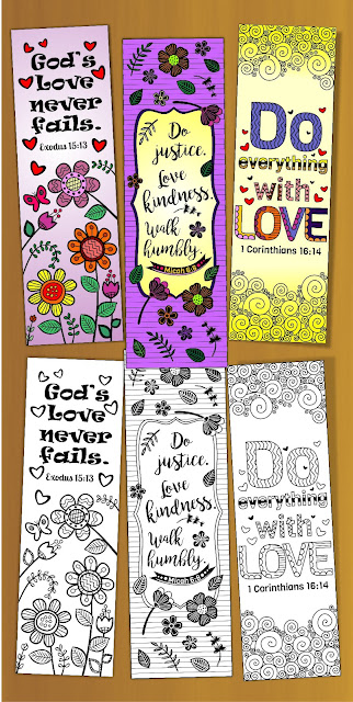 colored bible verse bookmarks