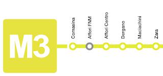 Milan yellow M3 Metro Line